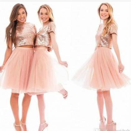 Sparkly Blush Pink Rose Gold Sequi..