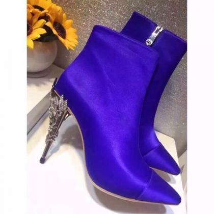 2017 Royal Blue Winter Wedding Shoe..