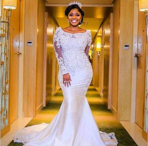 Wedding Gowns In Nigeria: 2018 Nigerian Wedding Dresses Sweetheart Neckline With