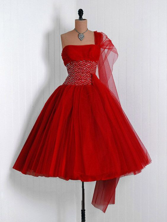 1950S Vintage Ball Gown Homecoming Dresses One Shoulder Beading Mini Short Cocktail Dress Party Gowns Prom