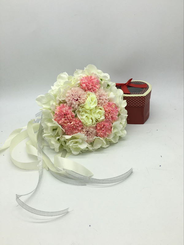 New Arrival Wedding Bouquet Handmade Flowers White and Pink and Beige Bridal Bouquet Wedding bouquets