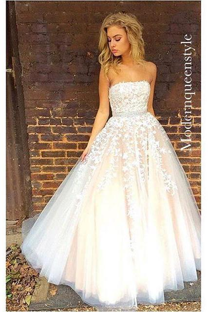 Gorgeous Strapless Long Prom Dress Wedding Dress
