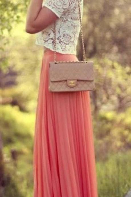 Fashion Street Style Skirt,Tulle Skirt,Charming Women Skirt,spring Autumn Skirt ,Long Skirt