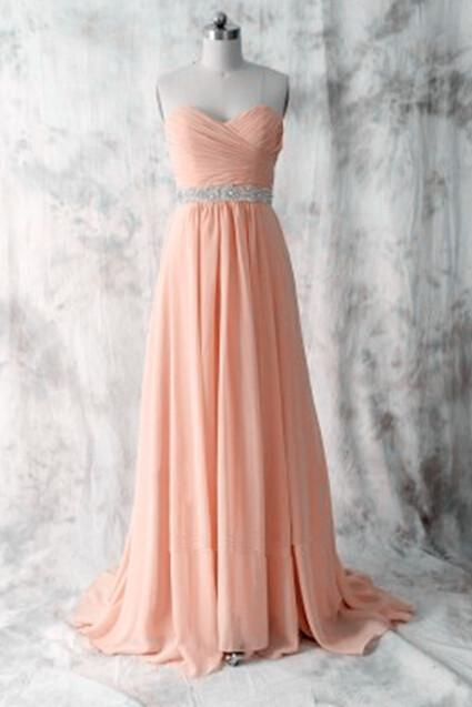 Simple Cute Handmade Pink Sweetheart Prom Dresses, Prom Dresses 2018, Party Dresses, Evening Gowns