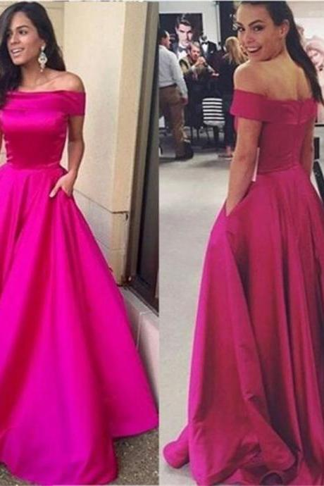 Off Shoulder Prom Dresses,A-line Dresses,Simple Prom Dresses, Cheap Prom Dresses,Party Dresses ,Cocktail Prom Dresses ,Evening Dresses,Long Prom Dress