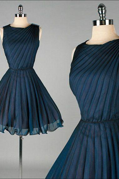 Navy Blue Prom Dresses, 1950S Vintage Prom Gowns