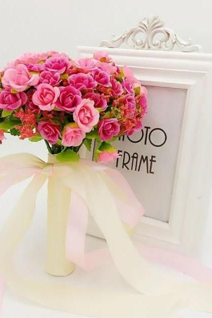 New Arrival Wedding Bouquet Handmade Flowers Pink Bridal Bouquet Wedding bouquets