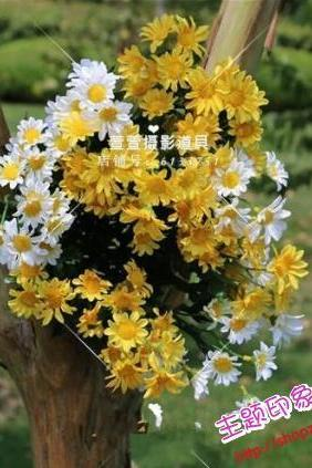 New Arrival Wedding Bouquet Handmade Flowers Daisy White and Yellow and Red Bridal Bouquet Wedding bouquets