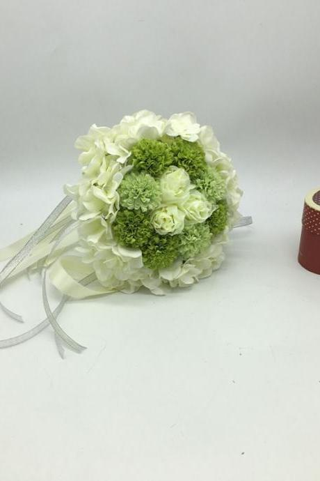 New Arrival Wedding Bouquet Handmade Flowers White and Green Bridal Bouquet Wedding bouquets