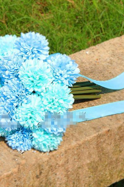 New Arrival Wedding Bouquet Handmade Flowers Turquoise Bridal Bouquet Wedding bouquets