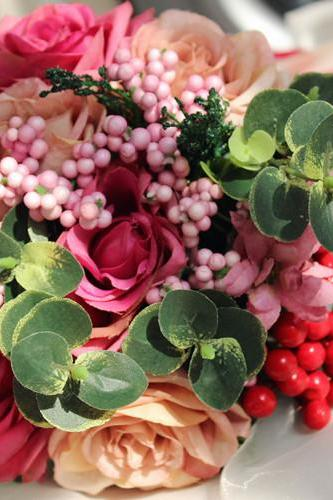 New Arrival Wedding Bouquet Handmade Flowers Pink with Berry Bridal Bouquet Wedding bouquets
