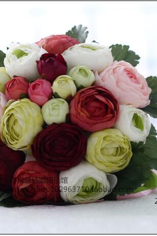 New Arrival Wedding Bouquet Handmade Flowers Pink Burgundy and White Bridal Bouquet Wedding bouquets