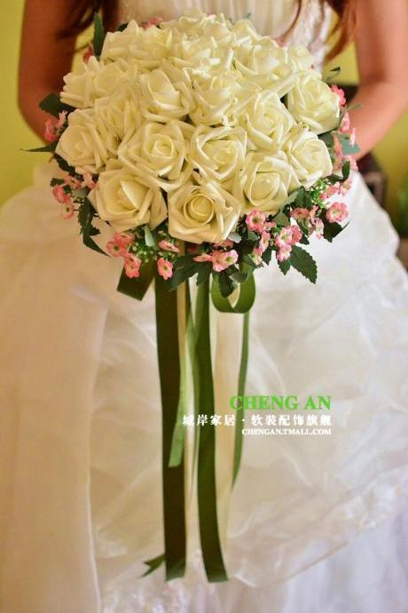 New Arrival Wedding Bouquet Handmade Flowers Ivory Bridal Bouquet Wedding bouquets