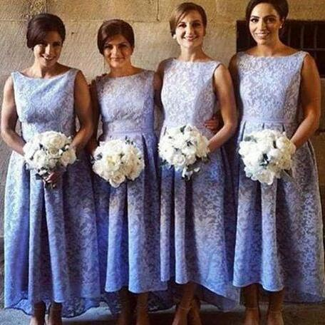 Lace Mermaid Bridesmaid Dresses 2018 Long Scoop Elegant Cheap Lace Wedding Party Gowns Cap Sleeve Applique Maid of Honor Dresses