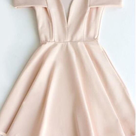 Pink Off Shoulder Homecomi..
