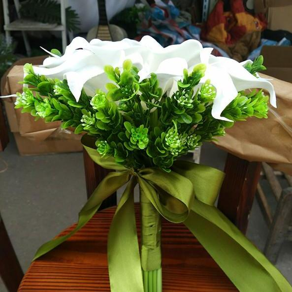 New Arrival Wedding Bouquet Handmade Flowers White Calla lily Bridal Bouquet Wedding bouquets